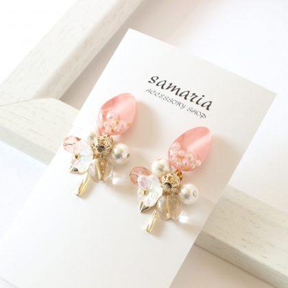 桜レジンイヤリング
